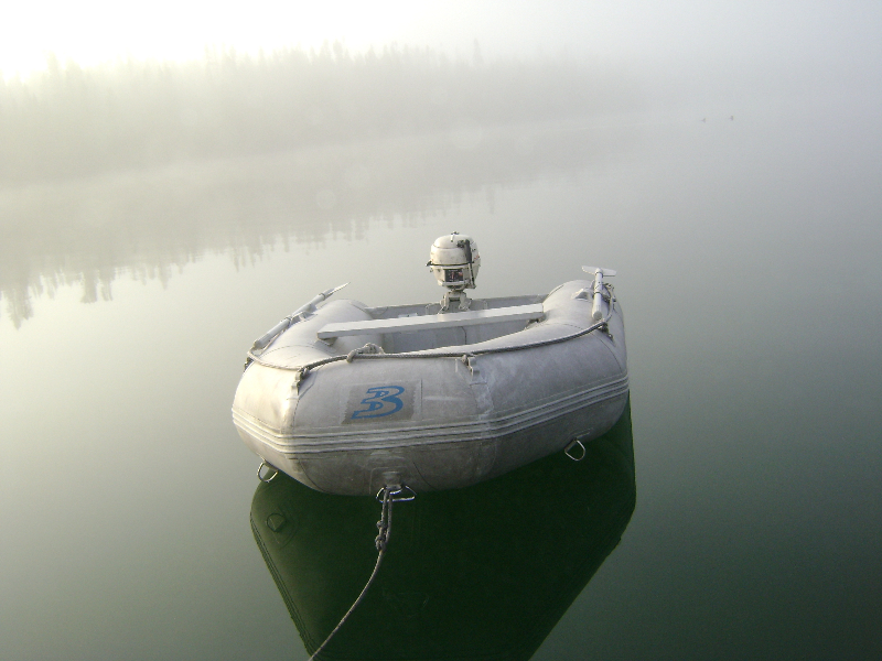 becalmed in fog